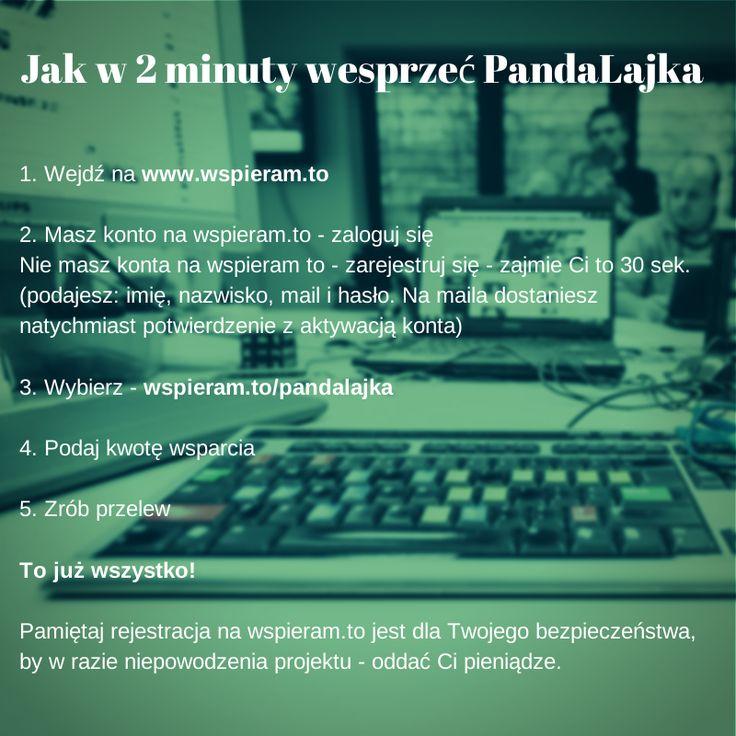 Wszystko, co chcielibyście wiedzieć o wsparciu Pandy na Wspieram.to, ale baliście się zapytać! www.wspieram.to/pandalajka