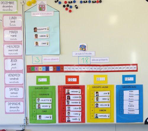 Ma petite maternelle: Rituel du comptage des élèves