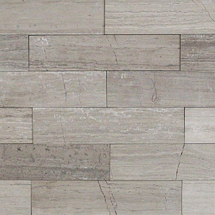Wooden Beige 2x8 Brushed Stone Tile At TileBar