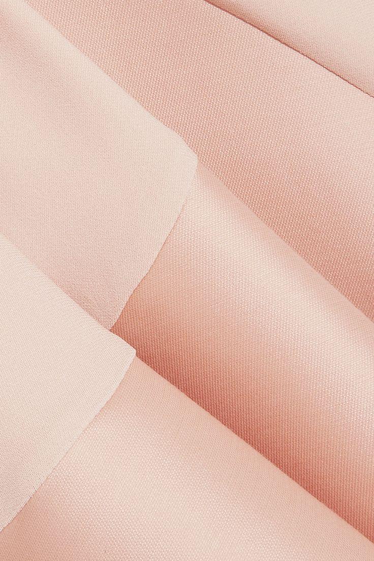 Стелла Маккартни | асимметричная стретч-кади и атласа платье | NET-A-PORTER.COM