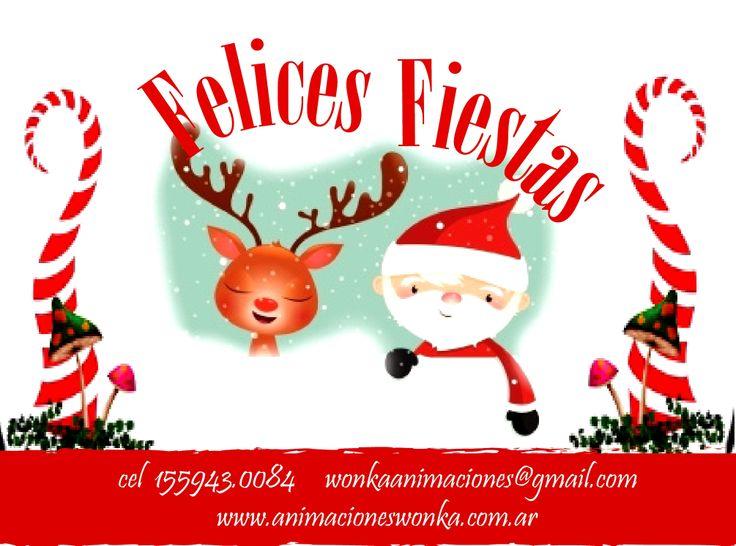 Felices fiestas!! Les desea Wonka animaciones www.animacioneswonka.com.ar