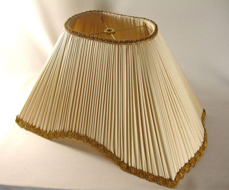 Delightful Lamp Shade Custom Pleated Ivory Silk Hand Made NY