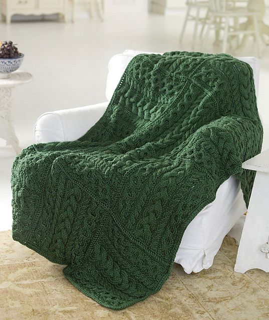 Free Pattern: Cables Cubed Throw by Susan Shildmyer Knit ...