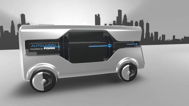 Ford : H πόλη του μέλλοντος θα έχει αυτόνομα van και drone... για delivery