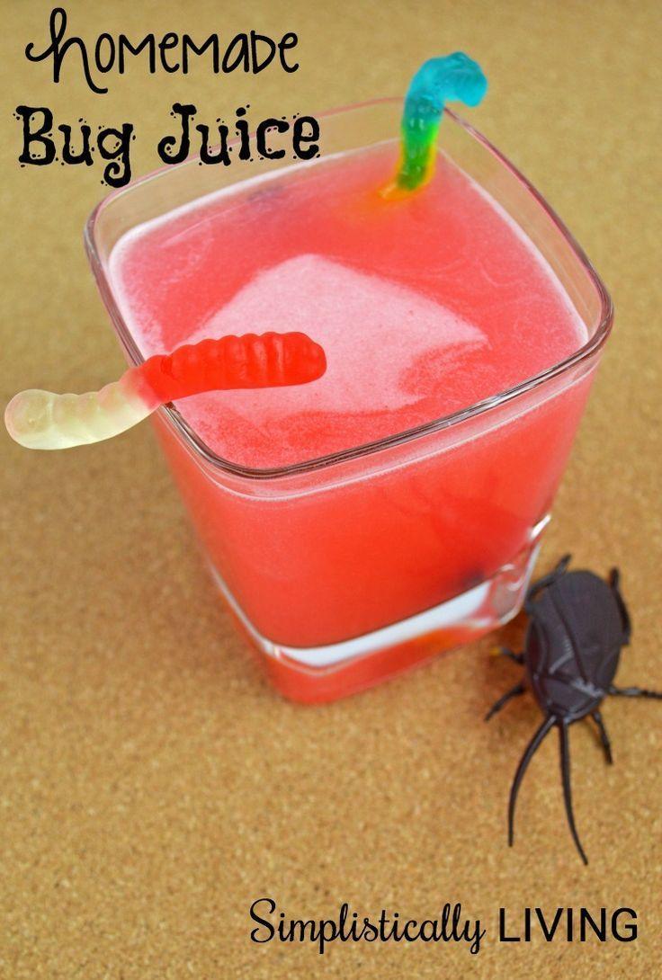 Homemade Bug Juice A Fun Sweet Treat For The Kids Bug Juice Halloween Party Snacks Bug Juice Drink