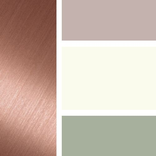 Possible color scheme: Rose Gold, Taupe, Cream & Sage ...