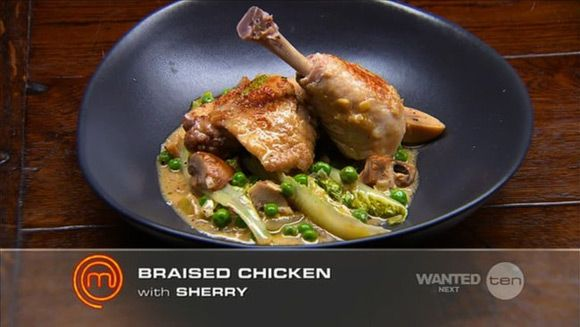 How to cook Heston's Masterchef Australia dish, its Heston Blumenthal's winning Braised Chicken with Sherry and Cream recipe. Description from insearchofheston.com. I searched for this on bing.com/images