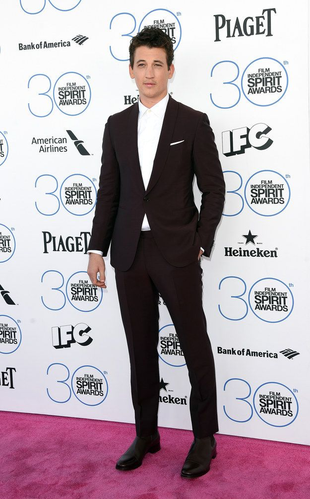 Miles Teller | All The Looks From The 2015 Independent Spirit Awards