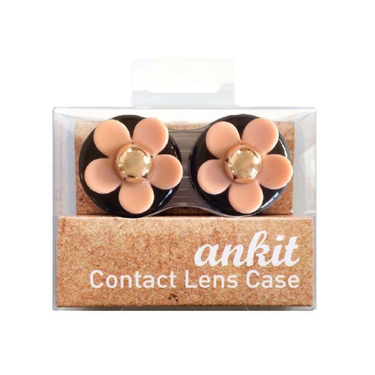Black Nude Daisy Contact Lens Case