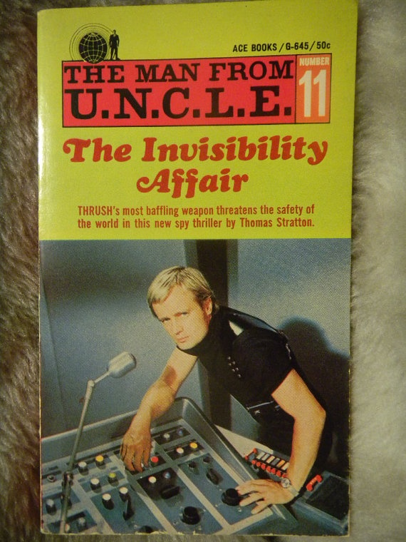The Man from UNCLE The Invisibility Affair No 11. A retro spy thriller from 1967 by AlienDragon on Etsy
