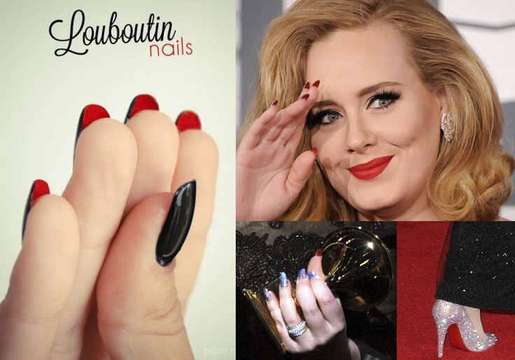 Golden Chain :: adele louboutin nails