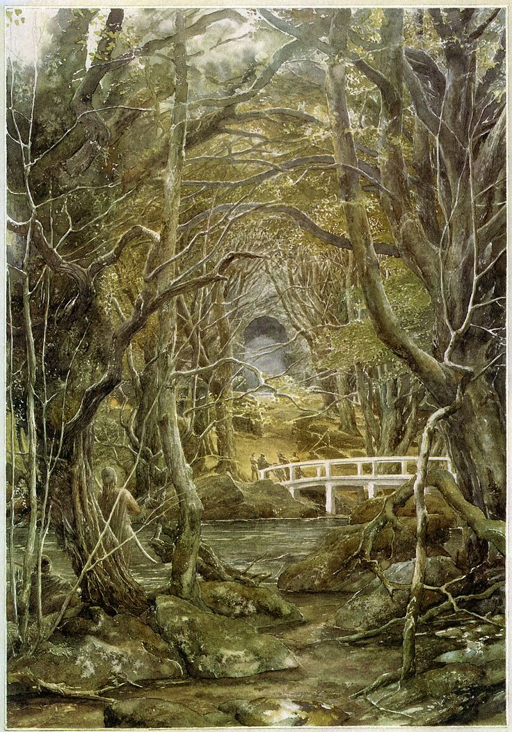 Alan Lee - Illustrations for the 1997 reissue of J.R.R. Tolkien's The Hobbit: 8. Flies And Spiders (IT: Mosche e ragni) _VI