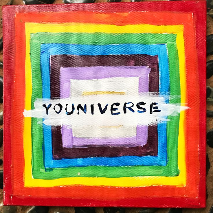 Youniverse  (n.) used to indicate that a person has knowledge only of him or herself, their universe consists only of them  20x20cm acrylic on canvas by Ehses - Sessa Xuanthi