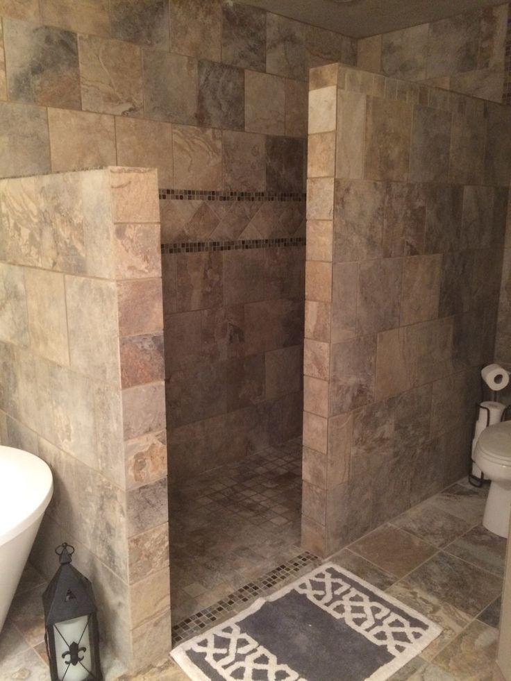Solange Die Fliese Erhitzt Ist Oder Es Eine Warmelampe Oder So Etwas Gibt Erhitzt Etwas Flies Badezimmer Im Erdgeschoss Dusche Umgestalten Rustikale Bader
