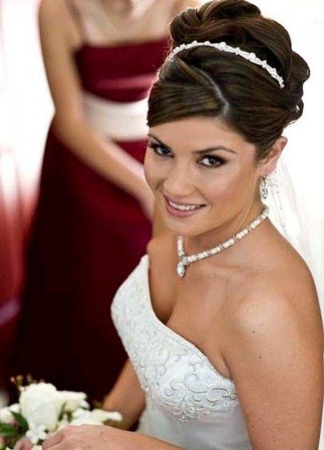Recogido alto con torzadas y tiara peinados pinterest - Recogido para boda ...