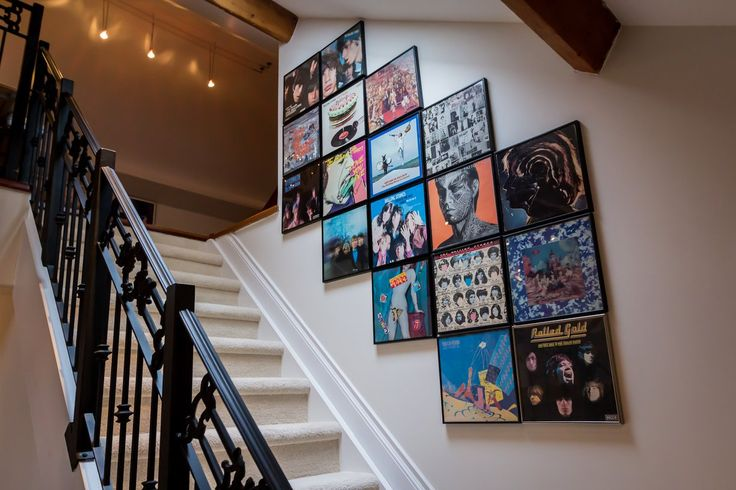 Dan & Sarah's Songbird Church House ... staircase album art and great wrought iron railings
