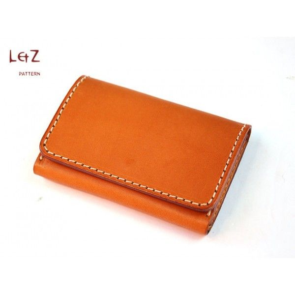 PDF sewing patterns business card case insant download QQW-02 LZpattern design leather working tool leather working patterns leathercraft
