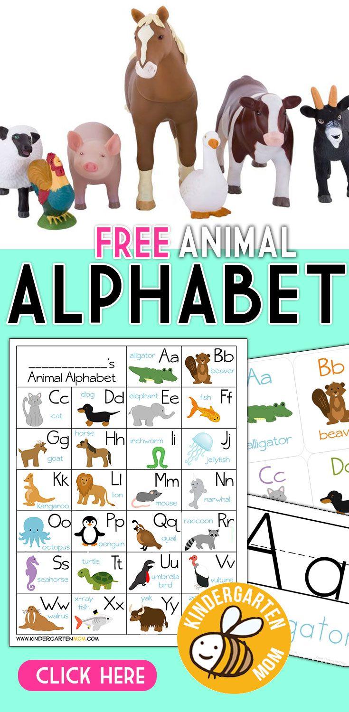 Free Animal Alphabet Printables For Kindergarten Free Printable Alphabet Chart Feat Kindergarten Alphabet Printables Free Alphabet Printables Animal Alphabet