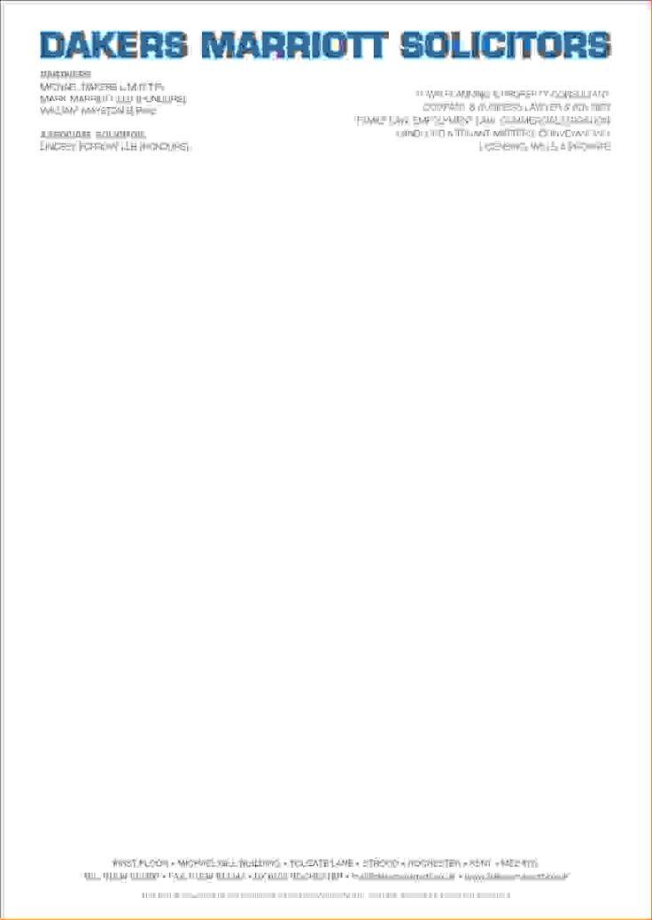 business letter format letterhead paper sample formal template