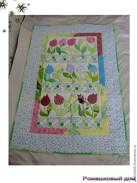"""Купить Одеяло - Квилт """"Весенняя нежность"""" для девочки - детская комната, детское одеяло, стеганое одеяло"""