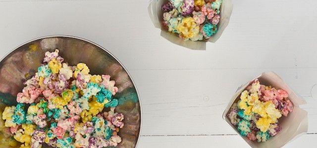 Kidsproof: Regenboog popcorn - Uit Paulines Keuken