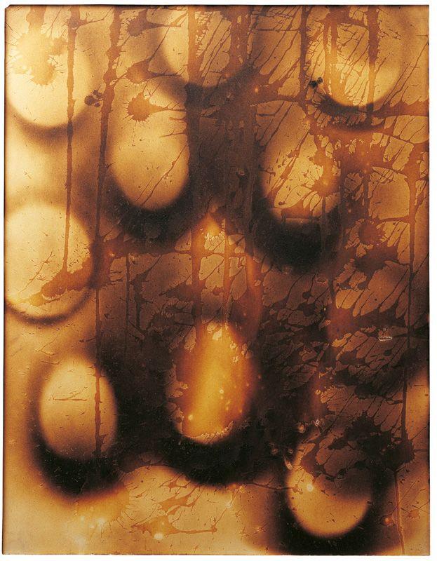 Yves Klein, Peinture feu sans titre (F 13), 65 x 50 cm.