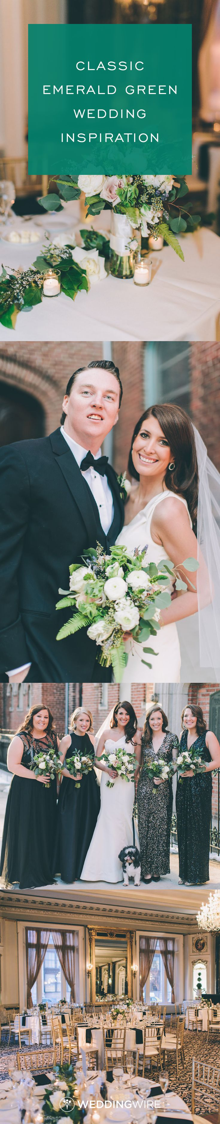 Classic Emerald Green Wedding Inspiration - elegant, chic and timeless Baltimore wedding - see the full real wedding on WeddingWire! {CJK Visuals}