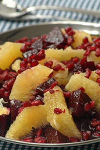 Beetroot Salad with Orange and Pommegranate by Ina Paarman