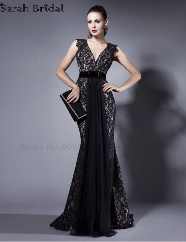 Cheap Lungo elegante pizzo nero vestiti da sera convenzionali 2016 backless donne occasioni speciali prom dress gown abiti da sera con scollo a v, Compro Qualità Abiti da sera direttamente da fornitori della Cina: New In Stock Wedding Shawls and Wraps Bolero Faux Fur White Black Wraps Shrug For Wedding Dress Winter Bridal Jacket Coa