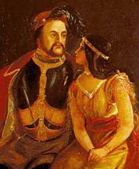 (Painting of John Rolfe &Pocahontas) John Rolfe (1585–1622) was one of the early English settlers of North America. He is credited with the first successful cultivation of tobacco as an export crop in the Colony of Virginia and is known as the husband of Pocahontas, daughter of the chief of the Powhatan Confederacy.