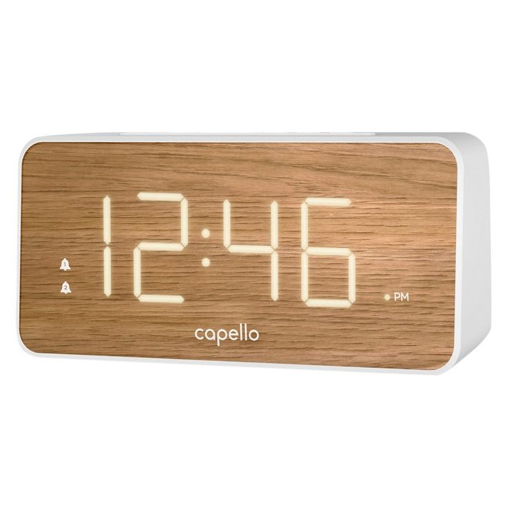 Capello Alarm Clock Extra Large 1.8 White Led Display