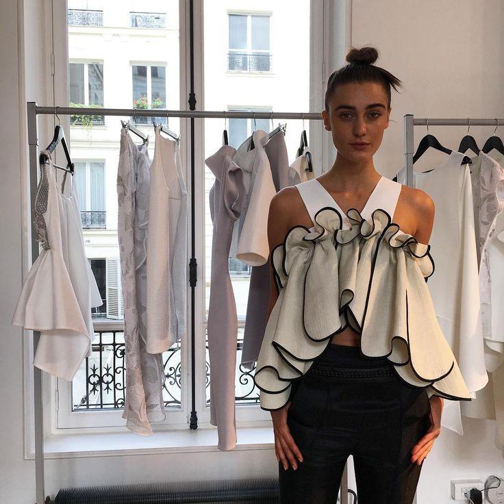 Beautiful ruffles Maticevski AW16 Paris Fashion Week Showroom | tonimaticevski.com