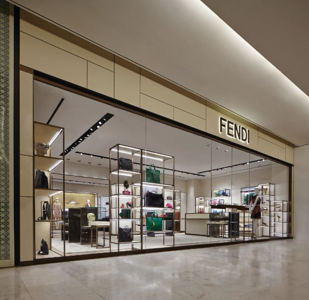 The display of the Fendi collections at the newly opened boutique at the Emporium Thailand shopping mall