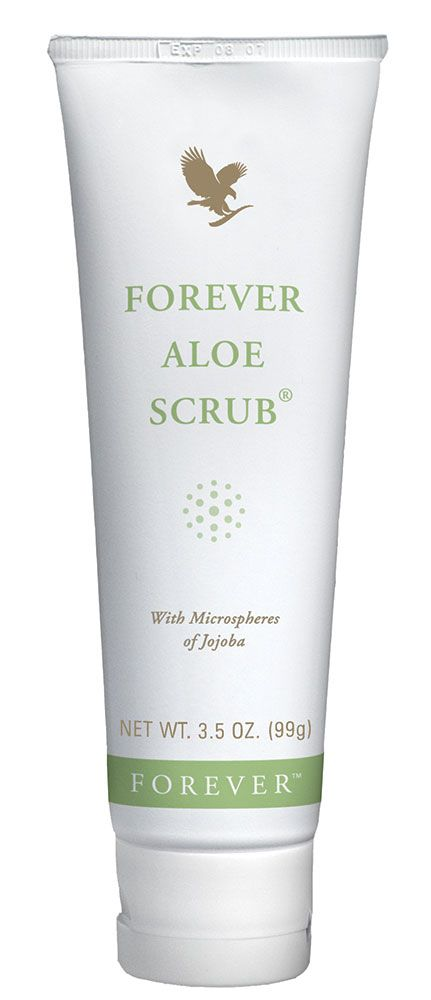 Forever Living - Forever Aloe Scrub. Microspheres from the jojoba bean plant and pure aloe vera, gentle enough to use every day even on the face. Works to remove dead skin cells, open pores and clear the way for the skin to renew itself to reveal radiant healthier skin. http://www.beforeverfree.myforever.biz/store