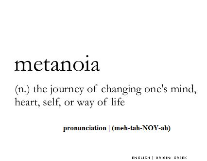 Metanoia definition
