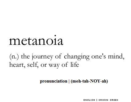 Metanoia definition