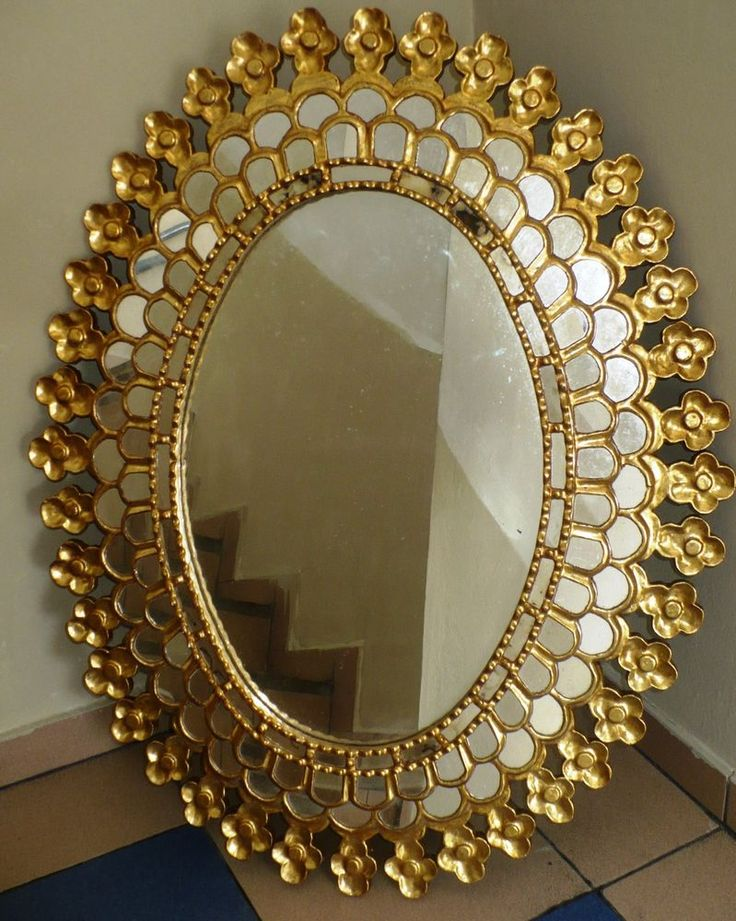 SUPERBIG , BEAUTIFUL GILT WOOD MIRROR HAND CARVED IN THE 1900s