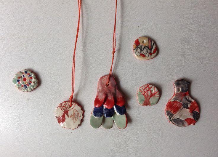 Bijou cerámica Cerámic neckasses by Mirella Musri www.ceramicailustrada.blogspot.com