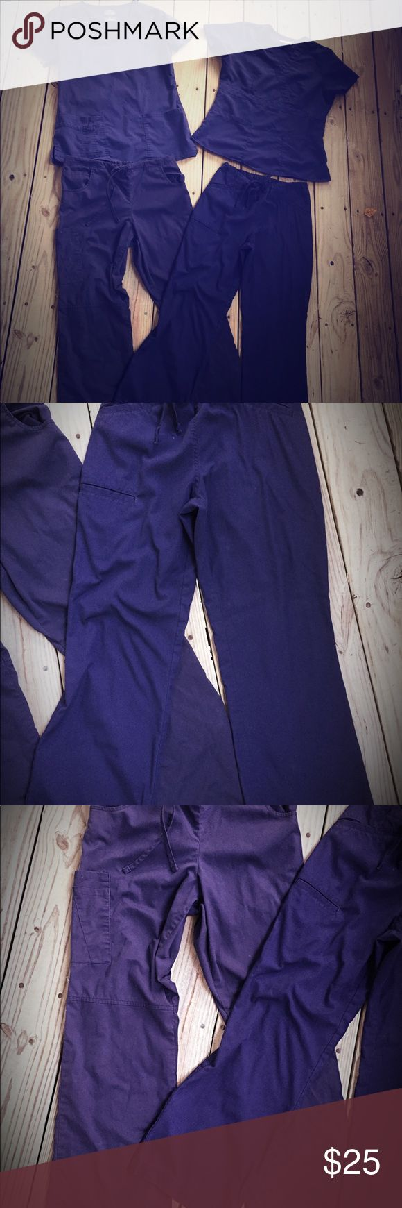 Lot of Navy Blue Scrub Pants & Top + FREE GIFT Scrubs in good Used condition, all are navy blue and a size small (mix lot of brands)  FREE Stethoscope with purchase! Cherokee Pants Straight Leg