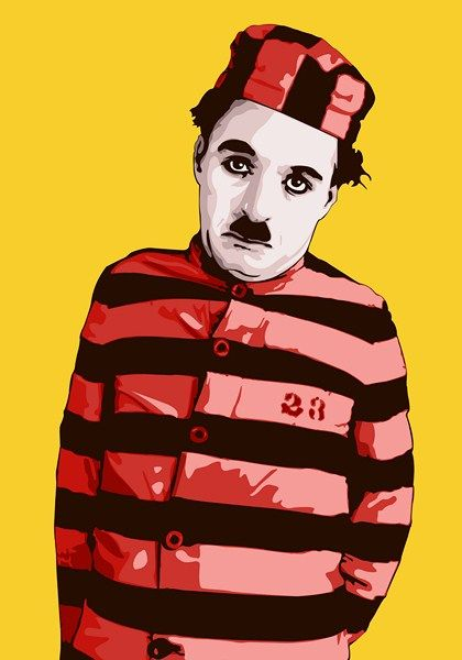 """Charlie Chaplin by ~vosvoskedi  Charlie Chaplin as Convict 23 in The Adventurer(1917), he also played Convict 23 in """"The Pilgrim"""" (1923)"""