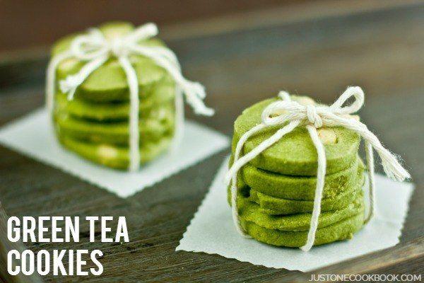Green Tea & White Chocolate Cookies   Easy Japanese Recipes at JustOneCookbook.com
