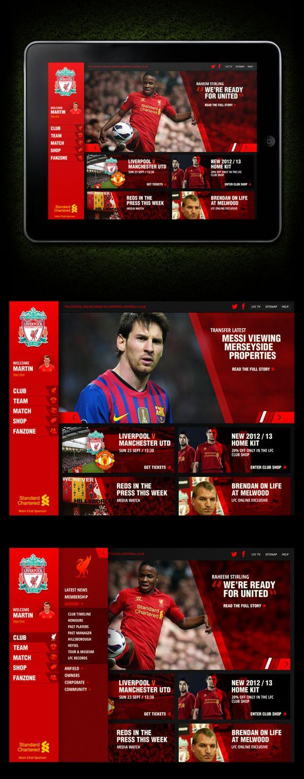 liverpool football club website example