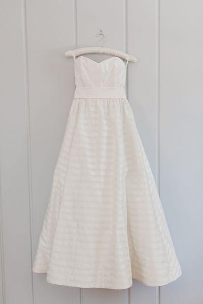 striped wedding dress | Annamarie Akins