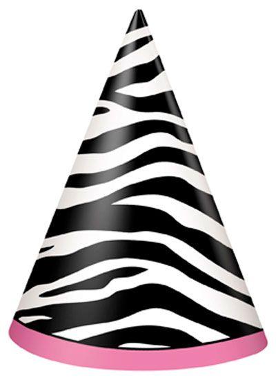 Zebra Feest Hoeden -Per Stuk Prijs: € 0.39