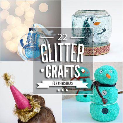 22 Christmas Glitter Crafts
