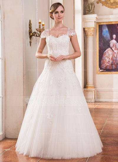 Wedding Dresses - $269.99 - Ball-Gown Sweetheart Floor-Length Tulle Wedding Dress With Lace Beading Sequins (002051614) http://jenjenhouse.com/Ball-Gown-Sweetheart-Floor-Length-Tulle-Wedding-Dress-With-Lace-Beading-Sequins-002051614-g51614