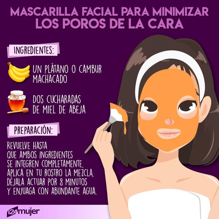Despídete de los poros abiertos utilizando un poco de miel y un plátano 🍯   #tips #belleza #chicas #girls #beauty