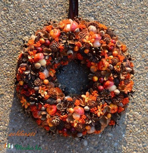 Vénasszonyok nyara - őszi termés-koszorú