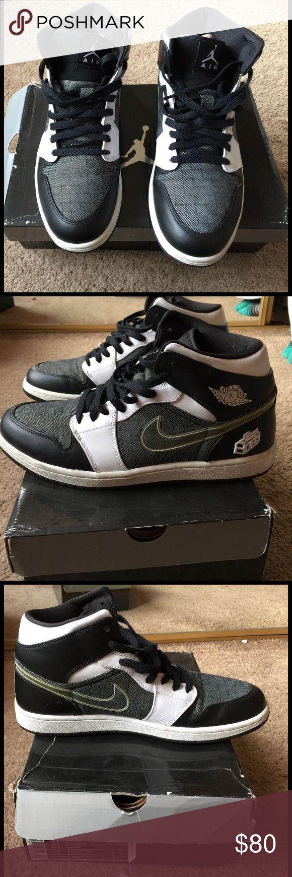 Nike Air Jordan 1 Black and white... still in good condition. Jordan Shoes Sneakers