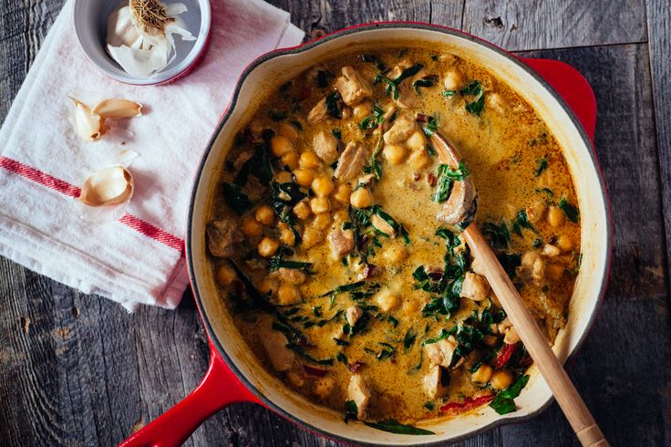 Green Chickpea & Chicken Coconut Curry - The Crepes of Wrath - The Crepes of Wrath